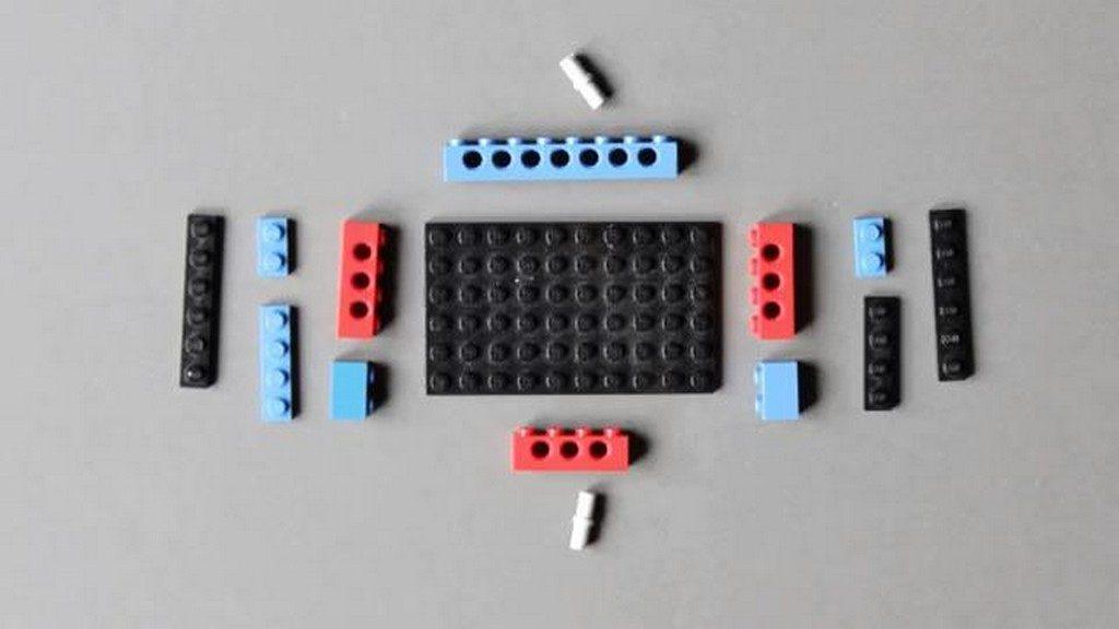 Funkcjonalny stabilizator dla kamer GoPro zbudowany z klockow LEGO 2