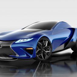 LF-LA – futurystyczna wizja supersamochodu Lexusa